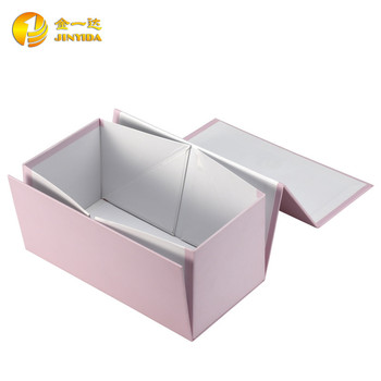 Custom Decorated Paper Folding Gift Box With Lid Template Buy