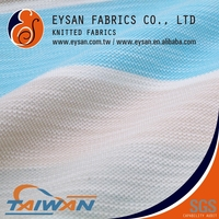 EYSAN Polyester Cotton Blend Slub Striped Knitted Pique Fabric