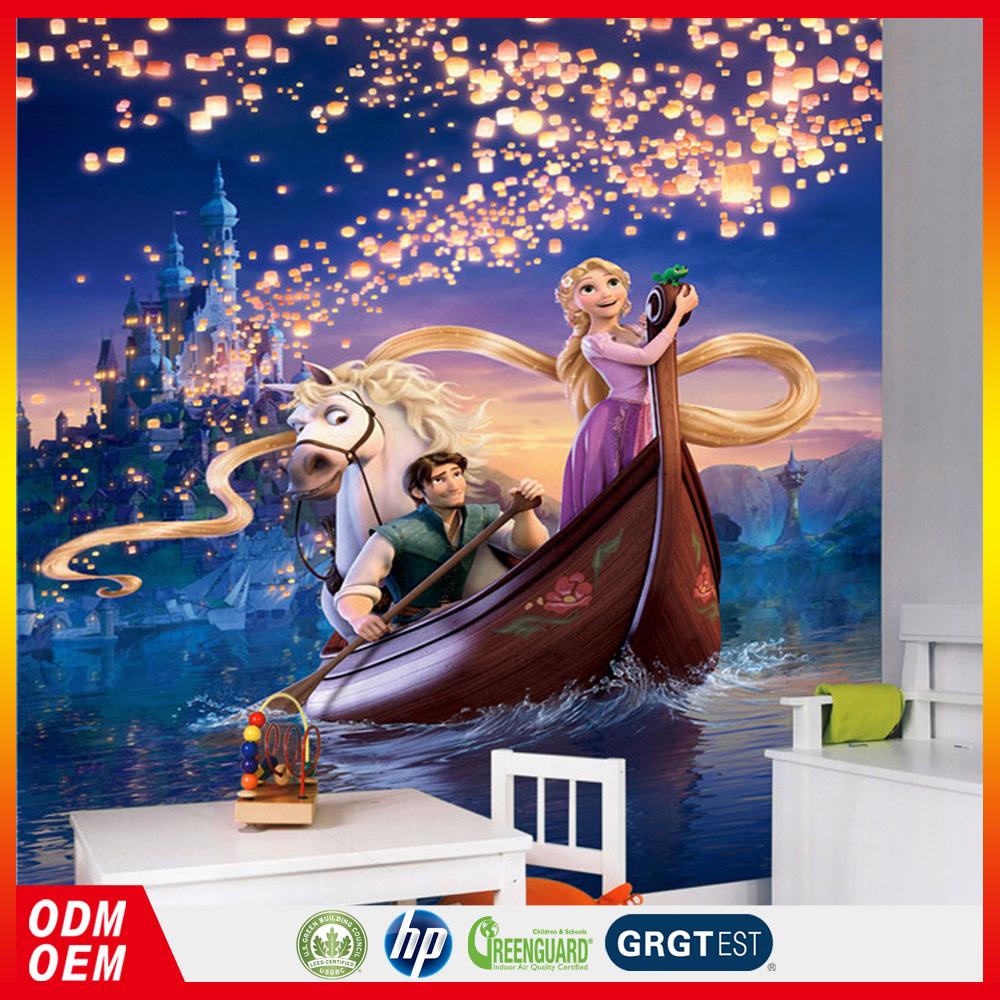 Rapunzel designe animasi kartun dinding mural untuk ruang for Mural kartun