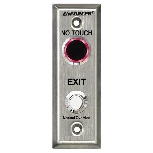 Seco-Larm Enforcer Slimline No Touch Request-to-Exit Plate, Outdoor (SD-9163-KSVQ)