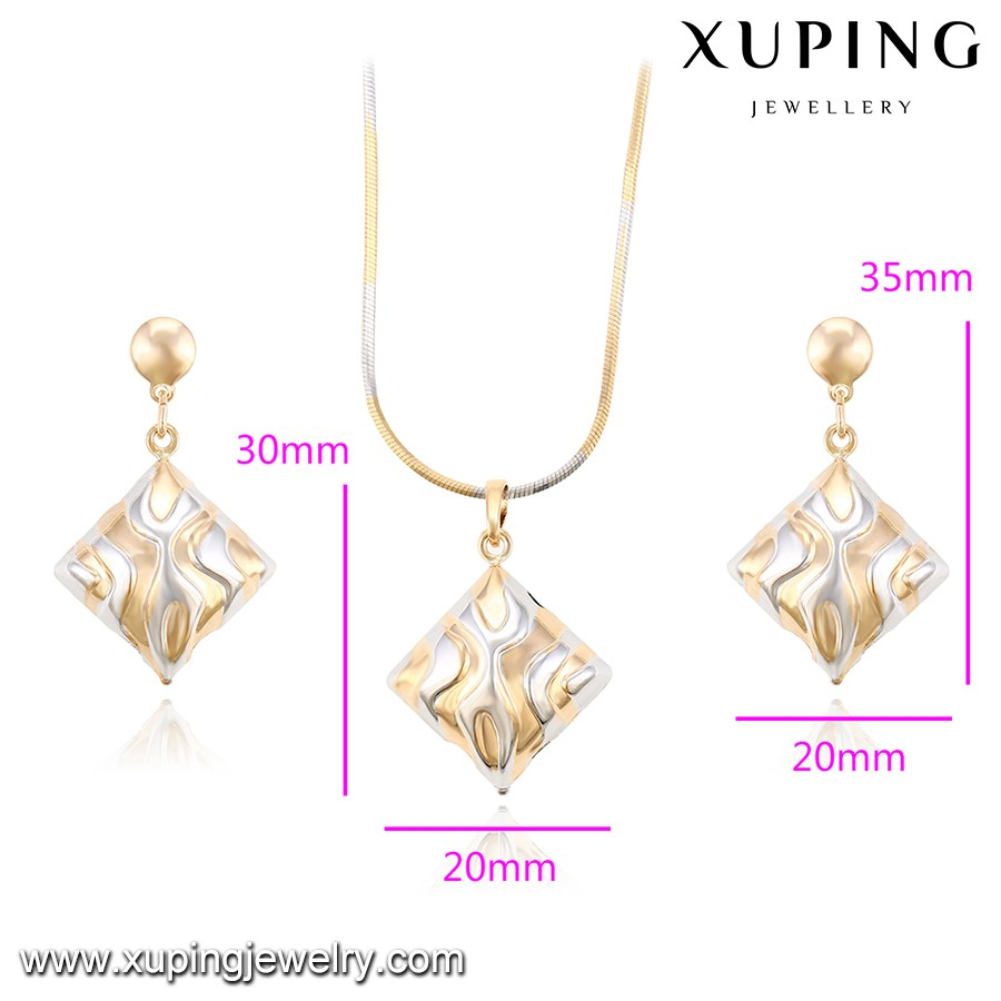 Newest Style Costume Fashion 18k+white gold plated ladies indian artificial bridal jewelry sets online wholesale 63894