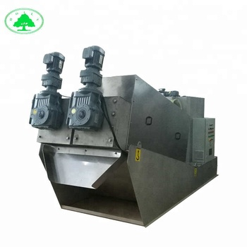 Fully automatical stacked screw sludge dewatering machine