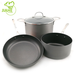 FDA Certification Kitchen Cookware Tools Aluminum Hard anodized Non Stick Cookware set Cooking Pot Set