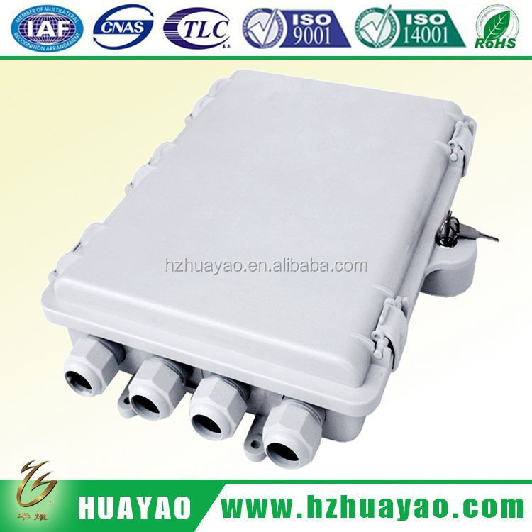 China FTTH 12 cores fiber optic equipments distribution box factory