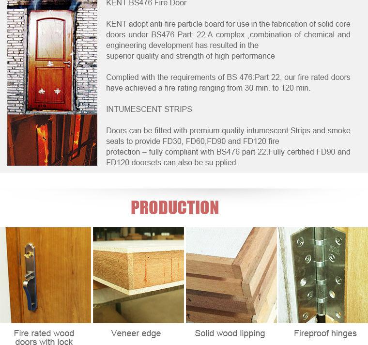 KENT Doors Top Wood Factory BS476 Approved Fire Rated Wooden Fireproof Door  sc 1 st  Alibaba & Kent Doors Top Wood Factory Bs476 Approved Fire Rated Wooden ...