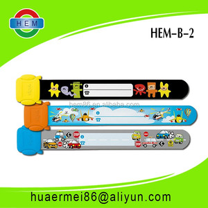 reusable cute design pvc wristbands