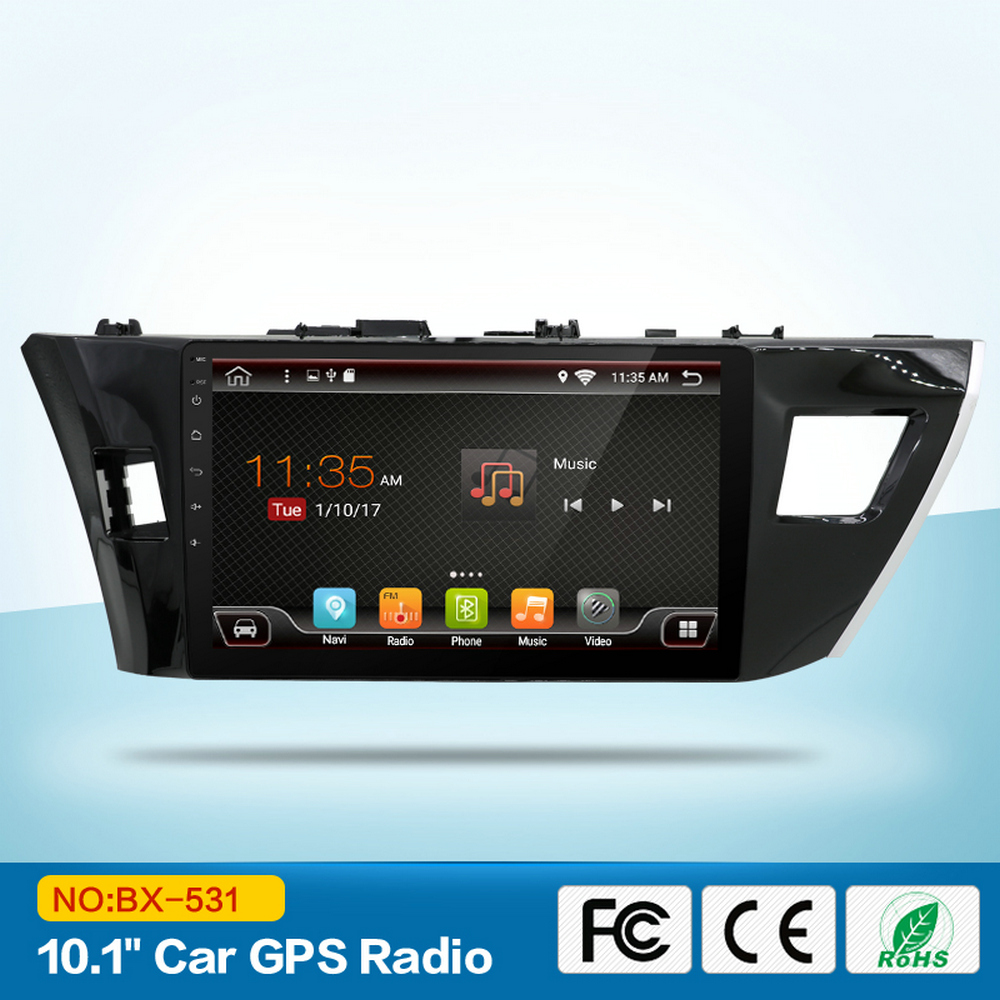 "10.1"" HD 1024*600 Touch Screen Android Car GPS Radio for Toyota Corolla 2014 2015 2016 with Steering Wheel Control 3G Wifi DAB"