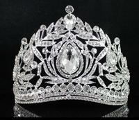 FANTASTIC CLEAR AUSTRIAN CRYSTAL RHINESTONE TIARA CROWN COMB PROM PAGEANT