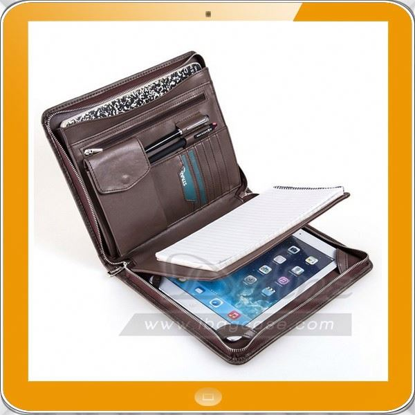 Popular high grade A5 size synthetic leather designer padfolio