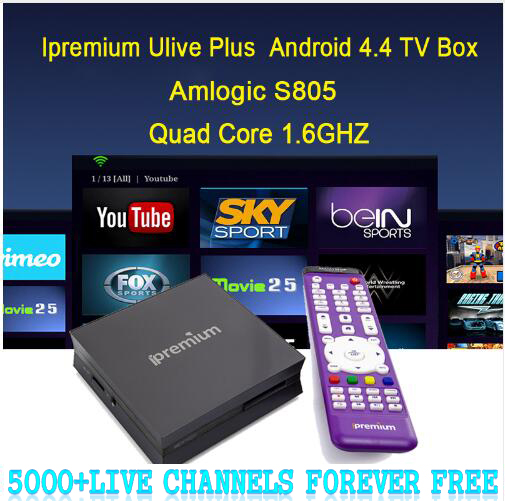 DHL Send ! 5000+ lifetime Free ChannelsIpremium Quad Core IPTV Box Include  French Russia Arabic IPTV Adult Channels Ulive Plus - drone4sky