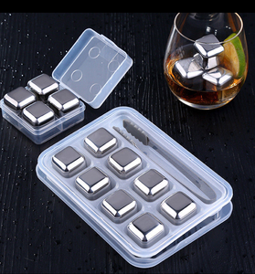 Whiskey Ice Stones Personalized Gift Set 8 Stainless steel Chilling Whisky Rocks Lead-Free Crystal Glass Cups