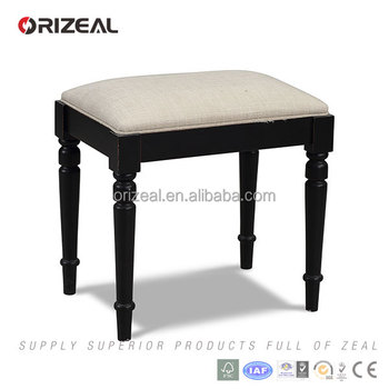 Wooden Adjustable Piano Bench With Fabric Seat Cushion, Price Black Piano  Stool
