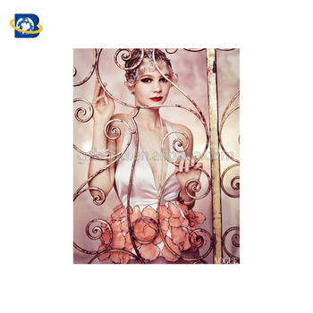 wholesale custom 3d a1 fashion adult art deco poster for beauty salon
