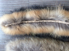 YR300 Hot sale natural color detachable raccoon fur trim for hood