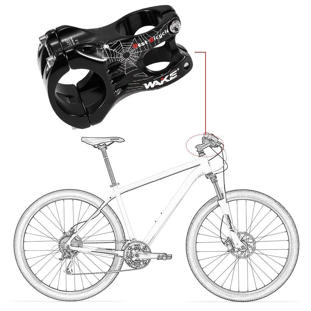 Lixada1 Aluminum Alloy MTB Handlebar Stem Mountain Bike Stem Bicycle Cycling Bike Clamp Stem 31.8MM/35MM