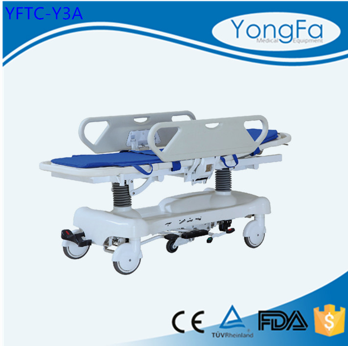 YFTC-Y3A ABS Hospital Hydraulic Patient Trolley With Height Adjusted