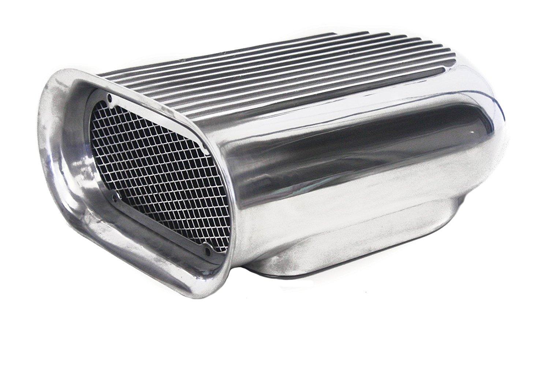 Gasser Finned Aluminum Single Quad Carb Air Scoop Black