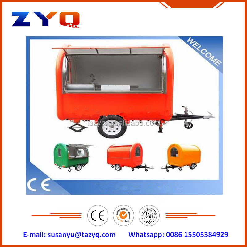 Best Selling Mobile Fast Food Van Kitchen Trailer Made in China