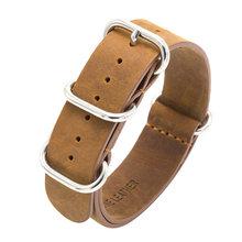 Ремешок для часов MEGALITH, из натуральной кожи для мужчин и женщин, 18 мм, 20 мм, 22 мм, Военный Спортивный Кожаный ремешок для часов G3(Китай)