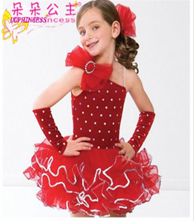 18c4237021b9 Beautiful Red Girl Tutu Dress Small Girl Dance Wear Fashion Frock ...