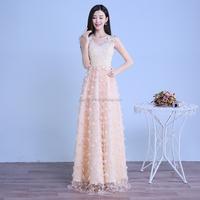 Fashion champagne Backless wedding party Dress bridesmaid dress