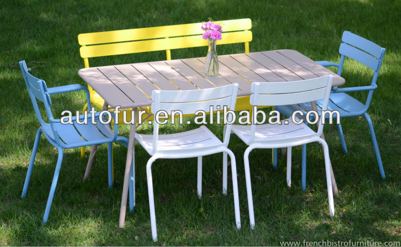 Garden Furniture Vintage Design Fermb Luxembourg Patio Metal Chairs