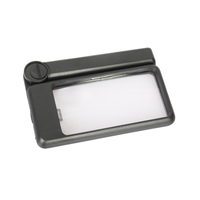 2.5x plastic rectangular LED magnifying glass