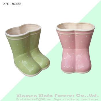 Hand Painted Ceramic Boot Planter Buy Boot Planter Ceramic Boot