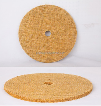 High Cutting Power Disc Sisal Buff for Stainless Steel / Aluminium / Iron / Zinc with Hard Impregnated