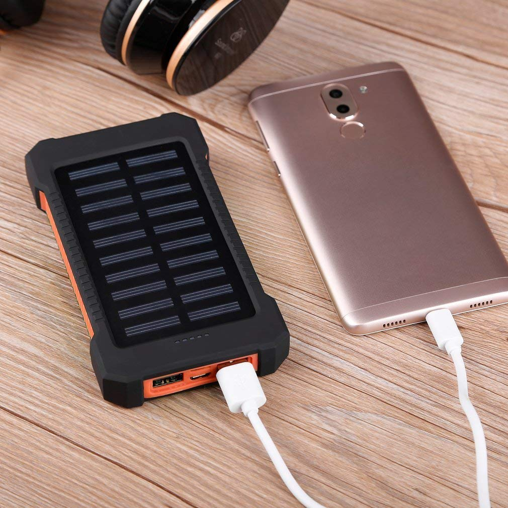 orange Search Terms: Waterproof, 300000mAh Power Bank, Solar Charger, Dual USB Waterproof 300000mAh Portable Solar Charger Dual USB Battery Power Bank