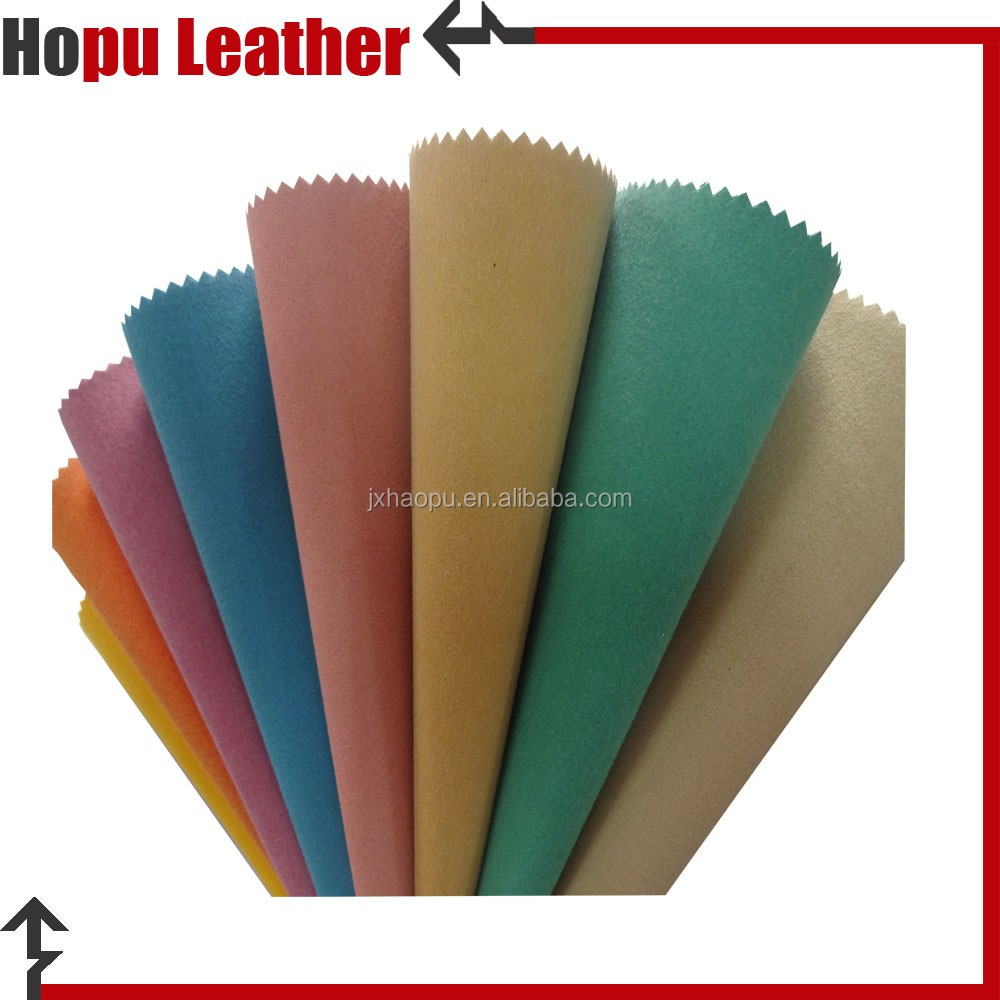 0.7mm orange waterproof embossed leather for industrial pu gloves leather made