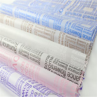 Bulk Luxury English fogging paper packaging Bouquet flower wrapping tissue paper