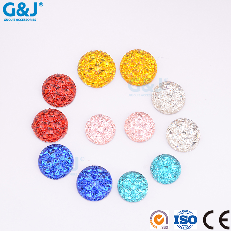 guojie brand High Quality rhinestone Oval Shape chaton for accessories Resin crystal Stone