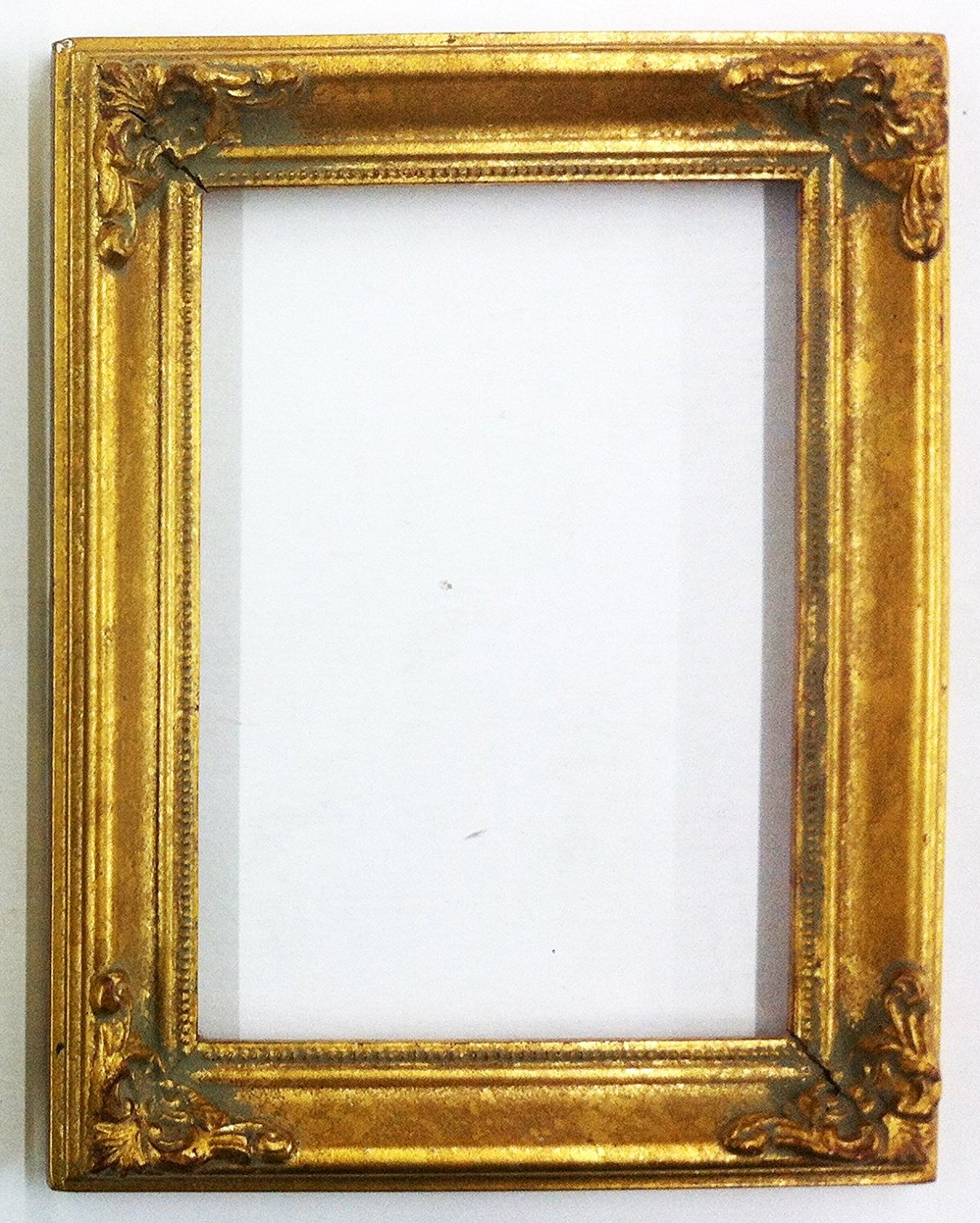 "Vintage Picture Frame Ornate Metallic Baroque Wooden Frames (7"" x 9"") Shabby Chic (Gold)"
