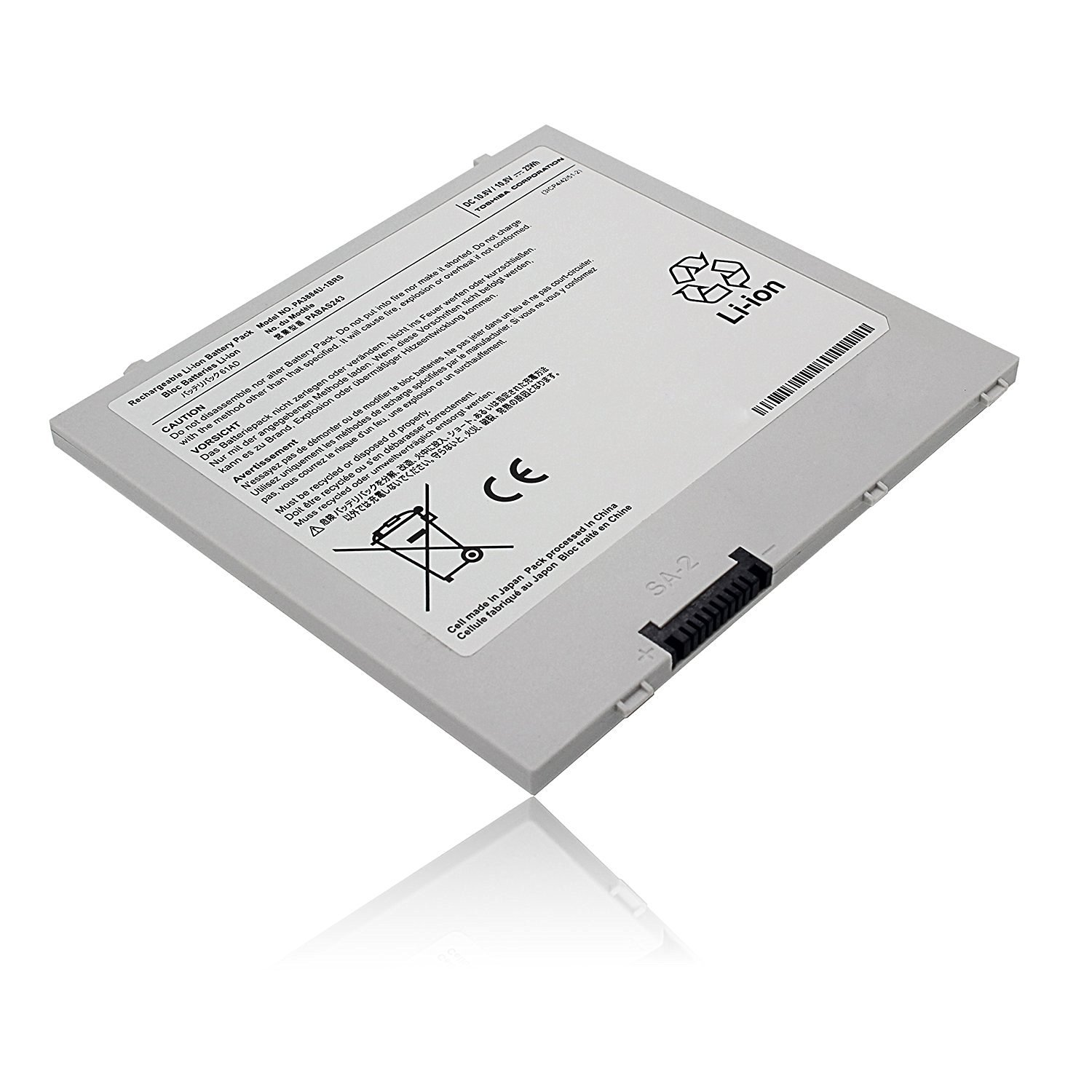 "Egoway® PA3884U-1BRS PA3966U-1EAD PABAS243 Battery for Toshiba Thrive AT105 10"" Pad Tablet [Li-Polymer 11.1V/23Wh]"