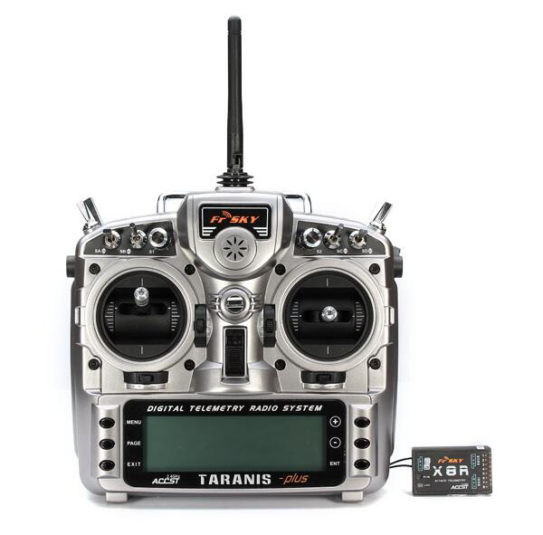 FrSky 2.4GHz ACCST Taranis X9D PLUS Telemetry Transmitter with X8R Receiver
