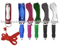 nails knife and lanyard promotional pens,light pens