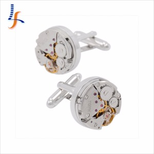 Fancy Elegant Mens Jewelry Watch Movement Cufflink