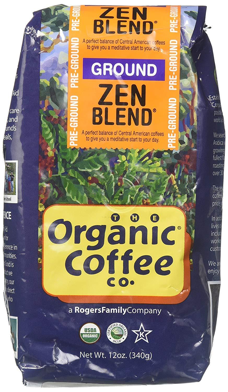 ORGANIC COFFEE Organic Ground Coffee - Zen Blend - 12 oz