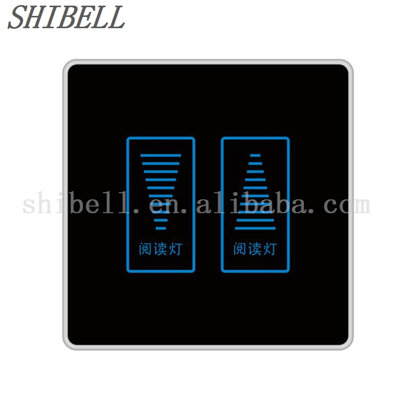 Shibell 2 Gang 2 Way Glass Touch Panel Dimmer Light Switch