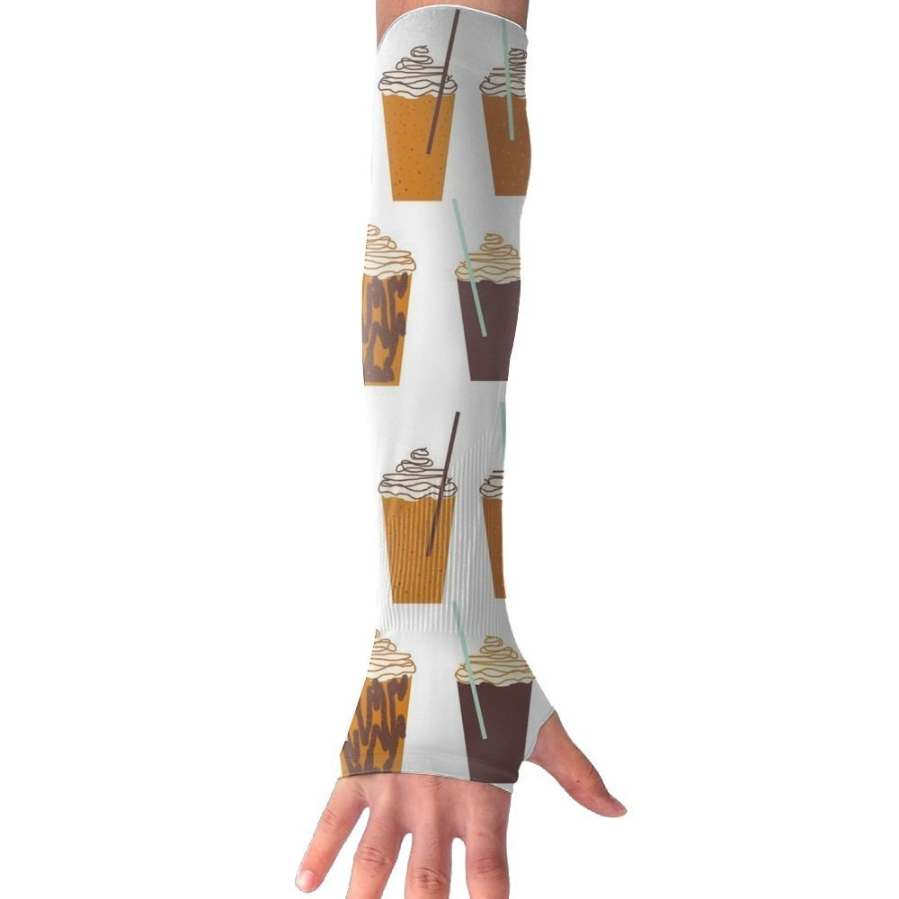 Pumpkin Autumn Flower UV Protection Cooler Arm Cooling Sleeves Compression Fit Hand Cover Arm Sunscreen