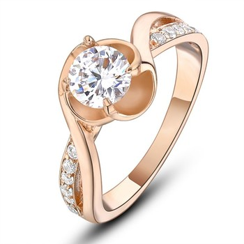 infinity ring gold. dazzling gold zircon stone engament ring sterling silver infinity