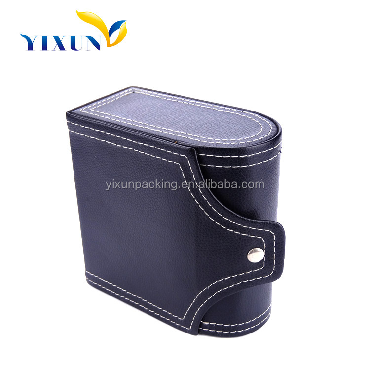 Personalized high quality PU leather velvet pillow insert single unique automatic watch winder box