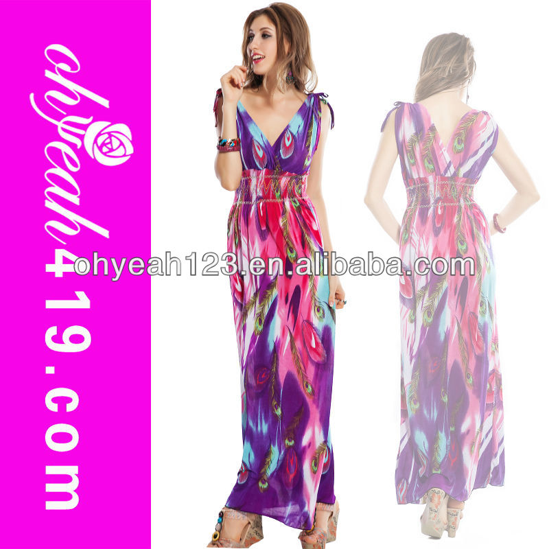 Venta al por mayor pavo real vestido de color-Compre online los ...