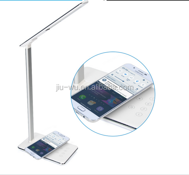 New 2017 inventions Qi-enabled Natural Light Dimmable Wireless Charging Folding Led Desk Lamp