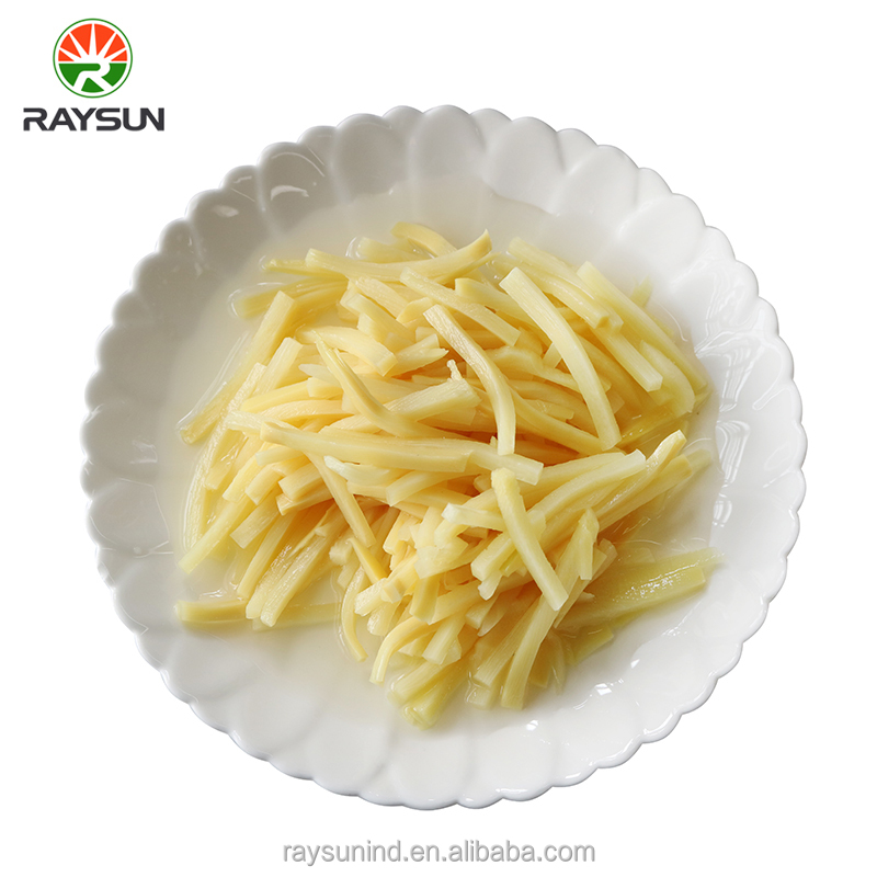 Organic canned bamboo shoots strips factory price