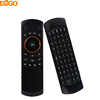 New Arrival X6 Rechargeable Lithium Battery Android OS USB TV Controller Fly Wireless Air Mouse Qwerty