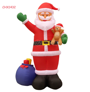 wholesale christmas decorations inflatable santa holding xmas gifts holiday decoration - Wholesale Christmas Yard Decorations