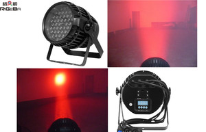 Professional zoom function 54X3W RGBW outdoor IP65 led par light