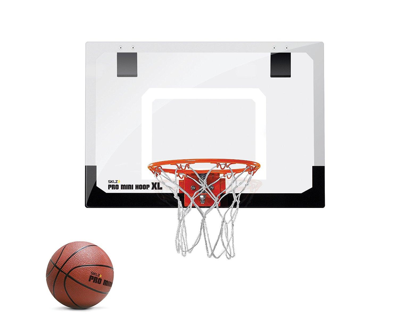 """SKLZ Pro Mini Basketball Hoop W/ Ball. 23""""x16"""" Shatterproof Backboard."""